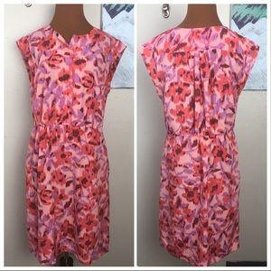 Joe Fresh pink printed dress with pockets
